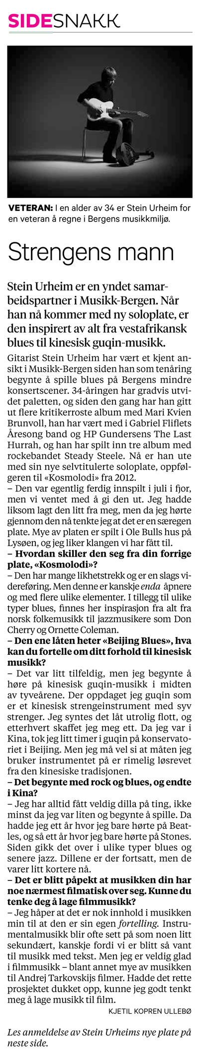 Interview Bergens Tidende